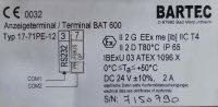 Bartec Anzeigeterminal / Terminal / PANEL / BAT 600 17-71PE12