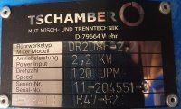 Tschamber Flanschmotor Rührwerk mit Motor DR2D8F-2,2