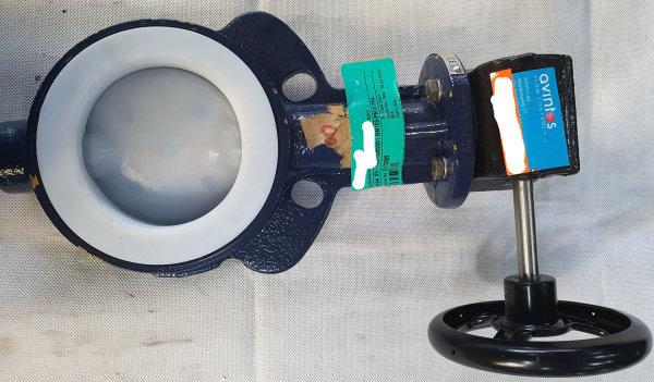 ChemValve Schmidt Absperrklappe DN100 PFA mit Antrieb